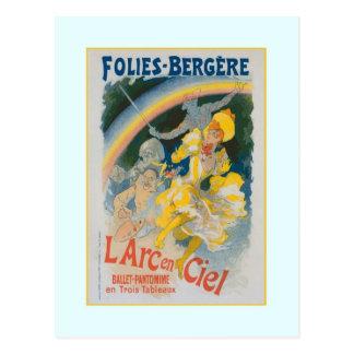 Jules Chéret, Anzeige, 1890 Postkarte