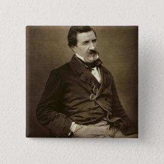"""Jules Francois Felix Husson, """"Champfleury"""" (1821-8 Quadratischer Button 5,1 Cm"""