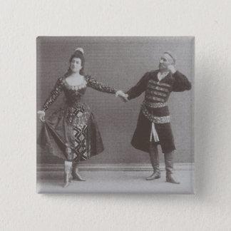 Julia und Felix Kschessinsky im mazu Quadratischer Button 5,1 Cm