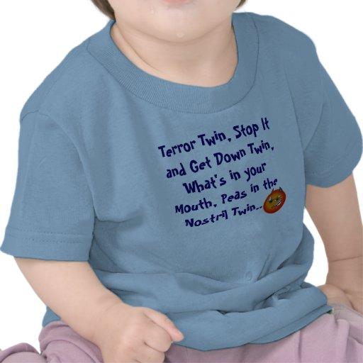 Jumeau de terreur t-shirts
