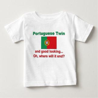 Jumeau portugais beau t-shirt pour bébé
