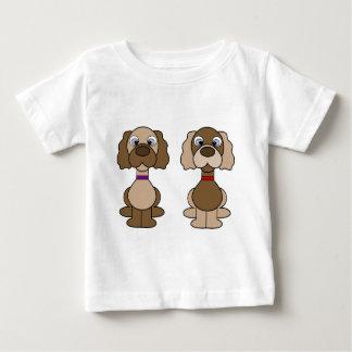 Jumeaux de chiot t-shirt pour bébé