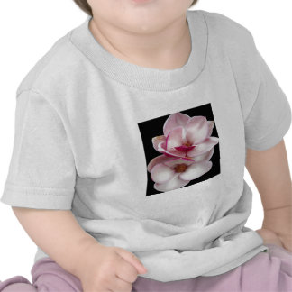 jumeaux de magnolia de tulipe (carré noir) t-shirt