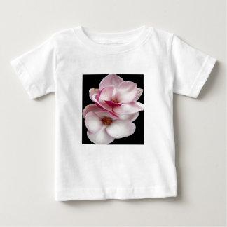 jumeaux de magnolia de tulipe (carré noir) t-shirts