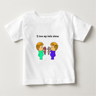 Jumeaux mignons de bébé tshirts