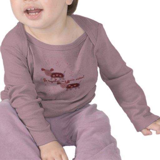 jumelle la chemise infantile t-shirt