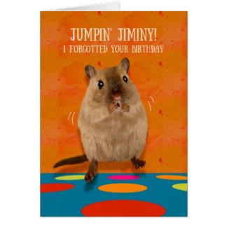 Jumpin Jiminy lustiger Gerbil-verspäteter Karte