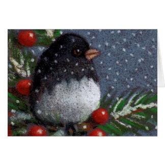 Junco-Vogel: Weihnachten: Ursprünglicher Karte