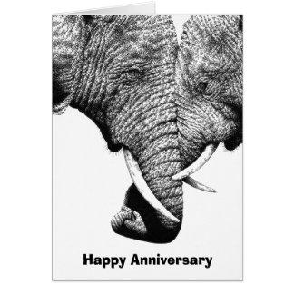 Junge afrikanische Elefant-Jahrestags-Karte Karte
