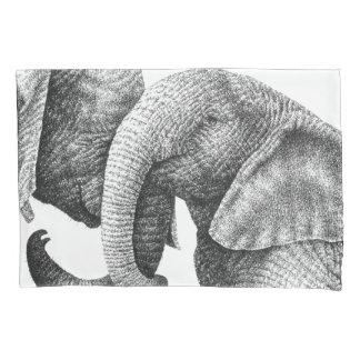 Junge afrikanische Elefanten Kissen Bezug