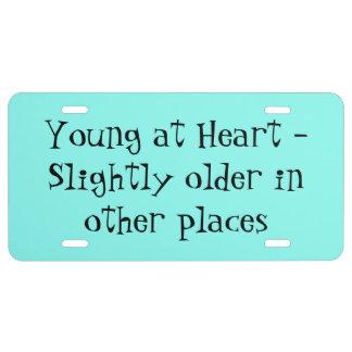 Junge am Herzen - etwas älter in anderen Plätzen US Nummernschild