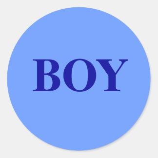 Junge - Baby-Geschlecht decken Runder Aufkleber