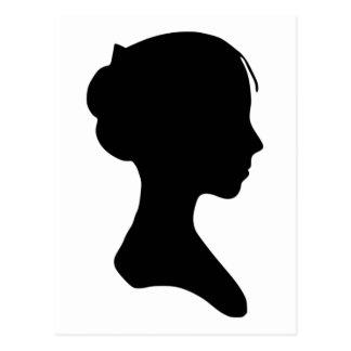 Junge Dame Silhouette Postkarte