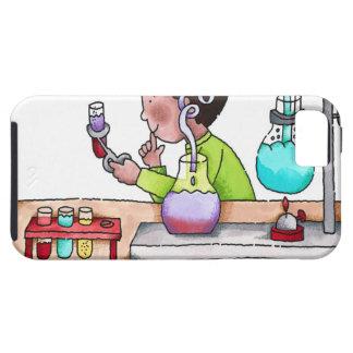 Junge, der Wissenschafts-Experiment tut Schutzhülle Fürs iPhone 5