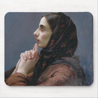 Junge Frau an Gebet, 1879 (Öl auf Leinwand) Mauspads
