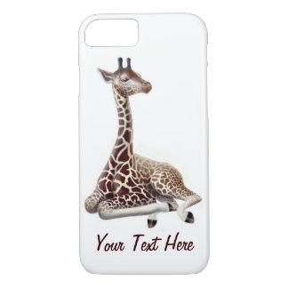 Junge Giraffe an Erholung iPhone 7 Fall iPhone 8/7 Hülle