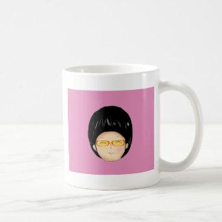 Junge mit sunglass kaffeetasse