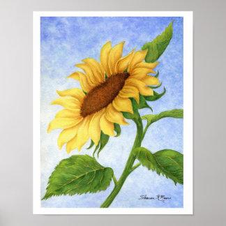 Junge Sonnenblume - Druck Poster