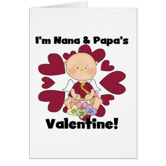 Jungen-Amor Nana und der Valentinsgruß-T-Shirts Karte