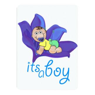 Jungen-Babypartyeinladung Karte