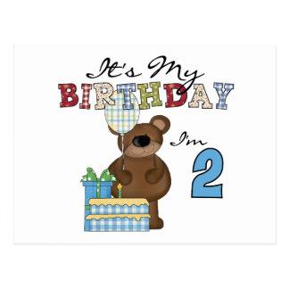 Jungen-Bärn-2. Geburtstags-T - Shirts und Postkarte
