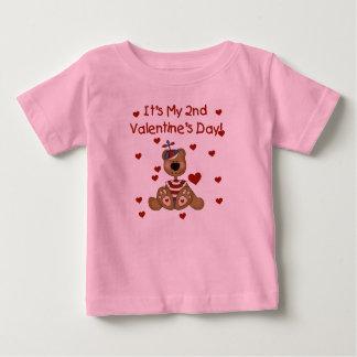 Jungen-Bärn-2. Valentinstag Baby T-shirt