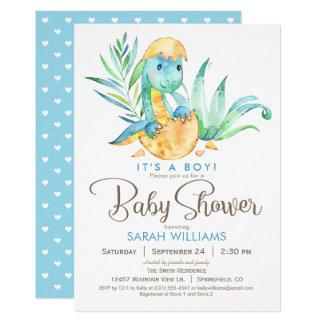 Jungen Dinosaurier Babyparty Einladung Karte
