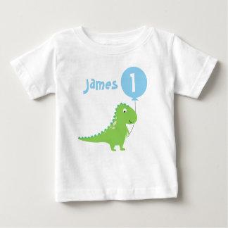 Jungen-Dinosaurier-Ballon-1. Geburtstags-T-Shirt Baby T-shirt