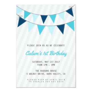 Jungen-erste Geburtstags-Party Einladung