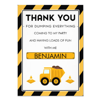 Jungen-im Bau Geburtstag danken Ihnen zu kardieren Karte