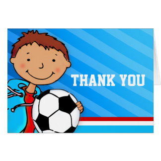 Jungen-Kindergeburtstag-Partyblau dankt Ihnen zu Karte