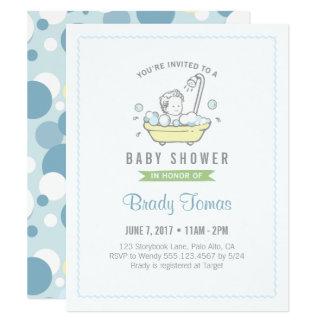 Jungen Schaumbad Babyparty Einladung Karte
