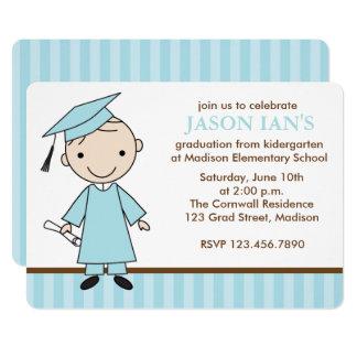 Jungen-SchulAbschluss-Party 12,7 X 17,8 Cm Einladungskarte