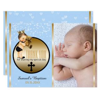 Jungen-Taufe danken Ihnen | kundenspezifische 12,7 X 17,8 Cm Einladungskarte