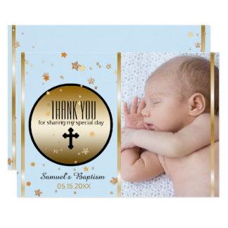 Jungen-Taufe danken Ihnen | kundenspezifische Karte