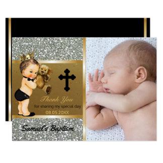 Jungen-Taufe danken Ihnen | kundenspezifisches 12,7 X 17,8 Cm Einladungskarte
