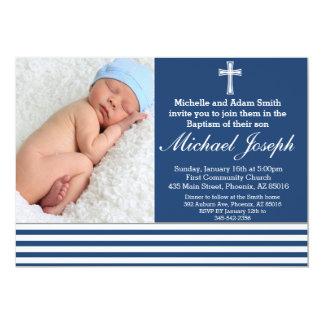 Jungen-Taufe-Einladung, Taufe laden ein, taufen 12,7 X 17,8 Cm Einladungskarte