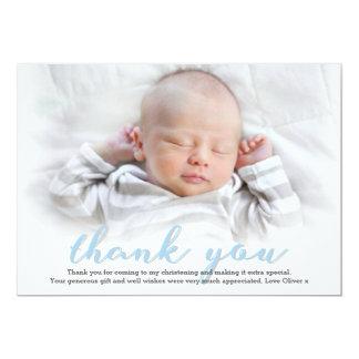 Jungen-Taufe/Taufe danken Ihnen zu kardieren Karte