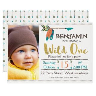 Jungen-wilde Pfeil-1. Geburtstags-Einladung Karte