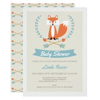 JungenFox und Pfeil-Babyparty-Einladung 11,4 X 15,9 Cm Einladungskarte