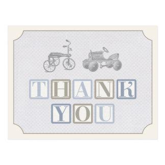 Jungengeburtstag danken Ihnen zu kardieren, Postkarte