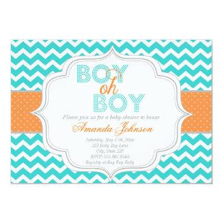 Jungeoh Chic-Zickzack Baby-Duschen-Einladung Karte