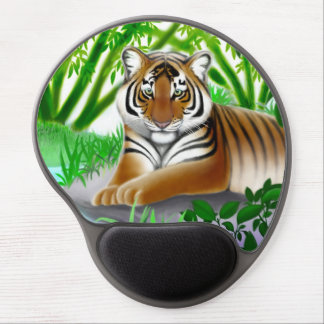 Junger bengalischer Tiger im Dschungel-Gel Gel Mousepad