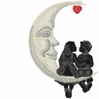 Junger Liebe-Mond Kapuzenpulli