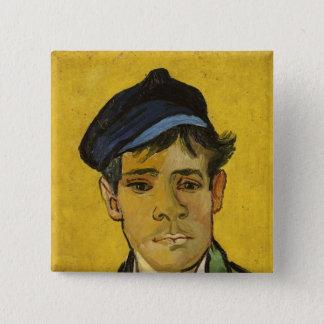 Junger Mann Vincent van Goghs   mit einem Hut, Quadratischer Button 5,1 Cm
