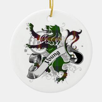 Junger Tartan-Löwe Keramik Ornament