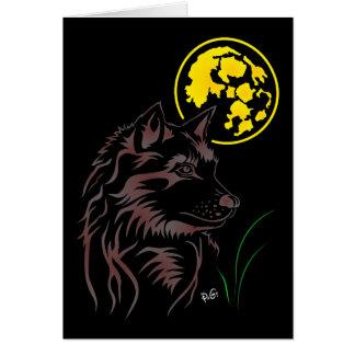 junger träumender Wolf Grusskarte Karte