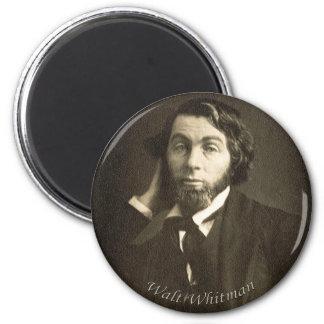 Junger Walt Whitman Runder Magnet 5,1 Cm