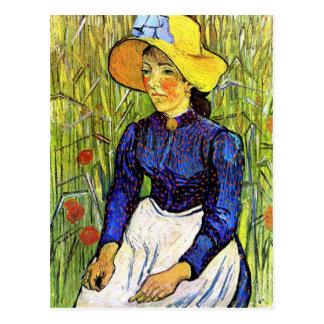 Junges ländliches Mädchen durch Vincent van Gogh Postkarte