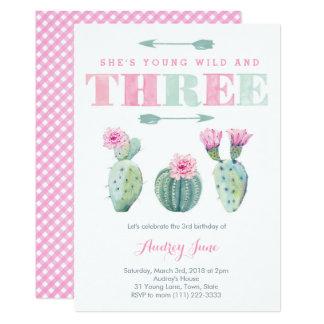 Junges wildes und drei frei, Kaktus-Party lädt ein Karte